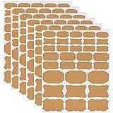 Étiquettes Kraft Autocollant écologique Auto-adhésif en Papier Kraft, Taille Assortie, Autocollant pour Tableau Noir Autocoll
