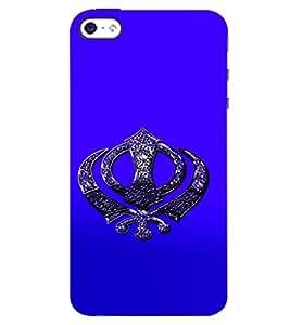 D KAUR Sikh Symbol Back Case Cover for Apple I Phone 4S::Apple I Phone 4S