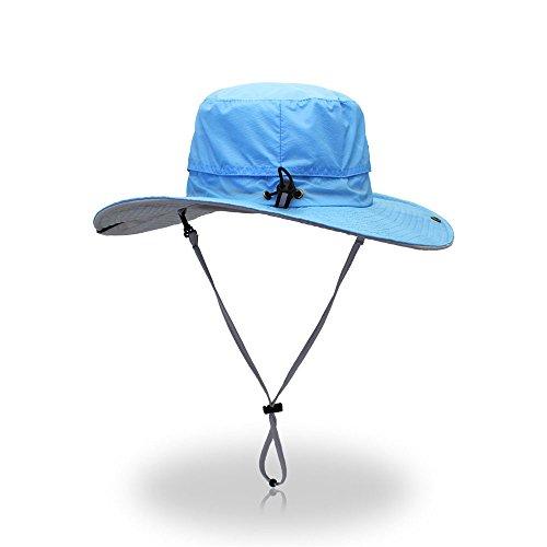 Ying xinguang cappello da sole super leggero cappello da viaggio estivo da spiaggia per parasole ! (colore : blu)