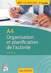 A4 organisation et planification de l'activité BTS AG PME/PMI