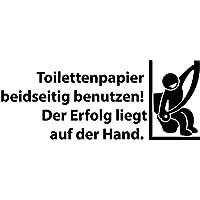 WC Deckel Aufkleber 25x12cm Gesicht Toiletten Tattoo Badezimmer Sticker 1K261 Farbe:Azurblau glanz