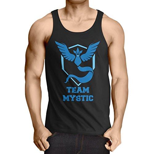 CottonCloud Team Azul Mystic camiseta de tirantes para hombre tank top articuno, Talla:2XL;Color:Nero