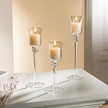 Amazon.de: Glas-Kerzenhalter, 3er Set