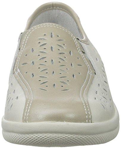 Comfortabel Damen 942022 Slipper Weiß (Weiß)