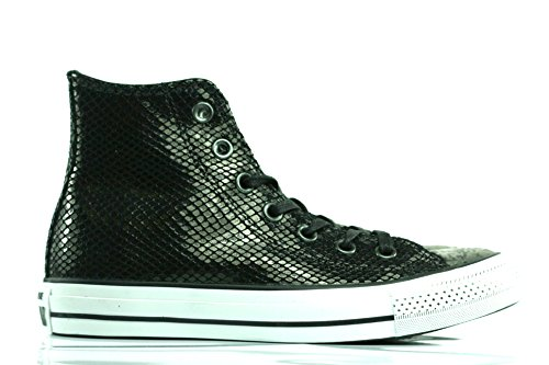 Converse, Chuck Taylor All Star Adulte Seasonal Leather HI, Sneaker, Unisex - adulto Black