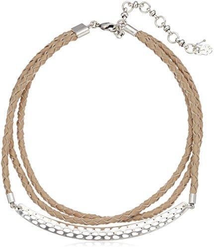 Lucky Brand Damen Leder Choker mit Hardware Halskette, silber, Einheitsgröße (Silber Hardware Leder)