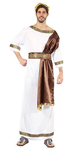 Zeus Griechischer Gott Kostüm - Bristol Novelty AC734 Griechischer Gott Kostüm mit Schärpe, Braun