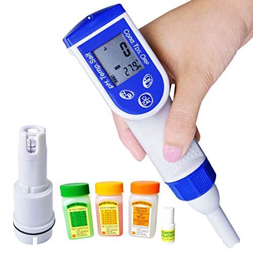 5 1 Probador calidad agua Analizador sal Combo Tipo