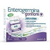 Enterogermina Gonfiore Integratore Alimentare Contro il Gonfiore Addominale Tripla Azione, 20 Bustine, Senza Lattosio e Senza