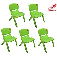 10x Children Strong Stackable Kids Plastic Chairs Picnic Party Garden Nursery Club Indoor Outdoor