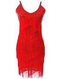 Abito Paillettes Nappa Donna Tango Latino Salsa Cha-Cha Ballroom Dress  Danza Abiti 66e0c60d2f7