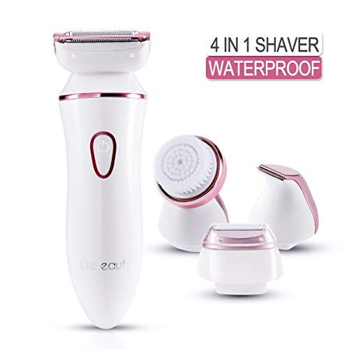 Lady Shaver,ETEREAUTY Wet and Dry Electric Shaver and Bikini Trimmer for Women Arm Underarm Legs Hair Remover