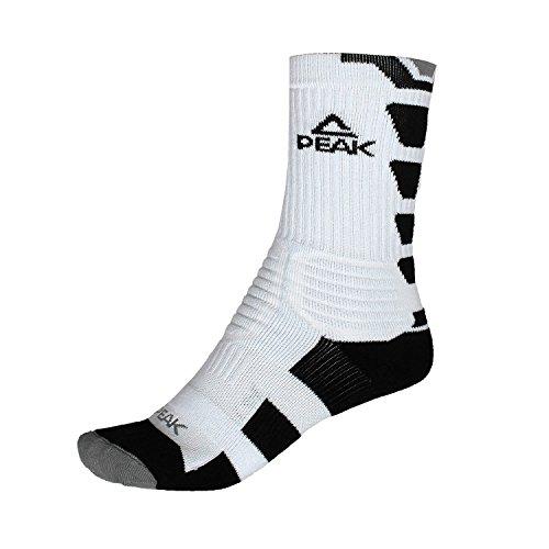 Peak–Pro Socks schwarz Basketball–Basketball Socken, Weiß/Schwarz/Grau