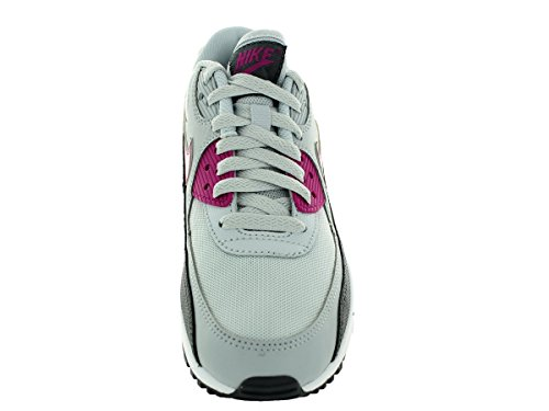 Nike Air Max 90 616730, Damen Low-top Sneaker Grau (puro Platino-fucsia Flash-grigio Scuro-bianco)