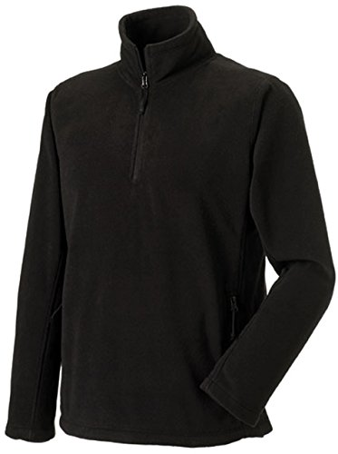 russell-collection-fleece-sweatshirt-mit-1-4-reissverschluss-r-874m-0-xlblack