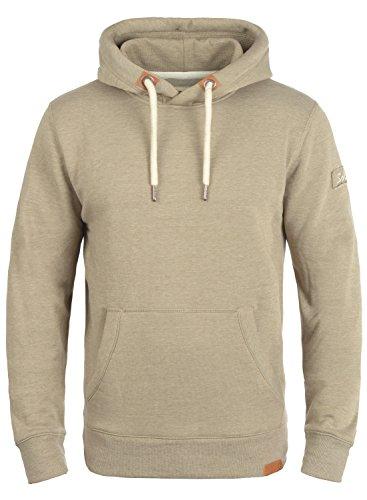 !Solid TripHood Herren Kapuzenpullover Hoodie Pullover Mit Kapuze Und Fleece-Innenseite, Größe:M, Farbe:Sand Melange (8409) - Zip-n-griff