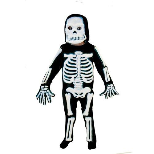 amscan- Déguisement-Garçon-Squelette 3D, 996242, 3-5 Ans