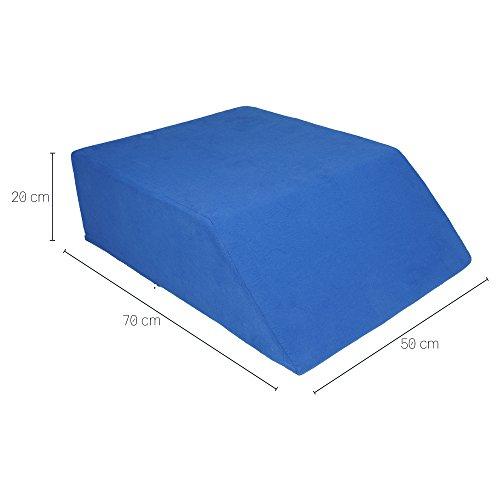 Sanolind® Orthopädisches Beinhochlagerungskissen, Venenkissen , Beinruhekissen bei muskulär bedingten Wadenschmerzen, Größe 70 x 50 x 20 cm