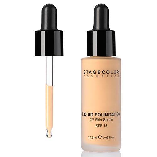 Stagecolor Liquid Foundation 2nd Skin Serum SPF 15 Liquid Foundation dark beige