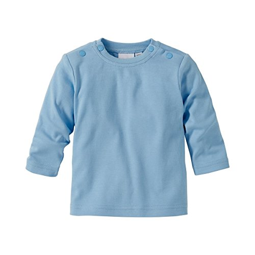 BORNINO Shirt langarm Baby-Top Babykleidung, Größe 50/56, blau