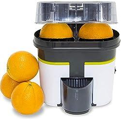 Cecotec Extracteur de Jus Cecojuicer Zitrus Turbo, Double Tête, Coupe-Fruit, 500ml, 90W, Lave-Vaisselle