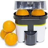 Cecotec Turbo Exprimidor Cecojuicer Zitrus. Corta y Exprime, 2 Cabezales, Depósito de 500ml, Libre de BPA, Fácil Limpieza, 90 W