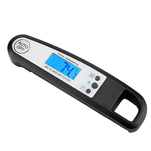 Lecxin Digital Food Thermometer, Folding BBQ Thermometer Fleisch Essen Kochen Thermometer Temperatur Tool (Batterie Nicht im Lieferumfang enthalten) Grillzubehör und Ausrüstung Digital