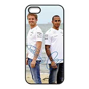 Nico Rosberg Charming Lewis Hamilton signed HD Image Personalized Apple iPhone 5 5s Hard case cover