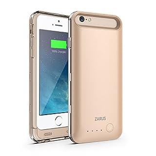 MFi Zertifiziert ZUSLAB 3100mAh Power Bank Akku Hülle Aufladbare Externe Batterie Ladehülle Backup Accu Charging Battery Case Cover für Apple iPhone 6/6S [Battery][Gold]