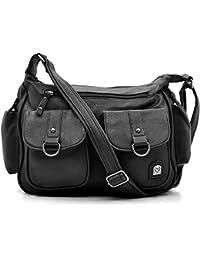 borsa tracolla PELLE donna tessuto tempo libero viaggio viaggi porta  documenti pc ipad notebook lavoro passeggio 21904580ba7