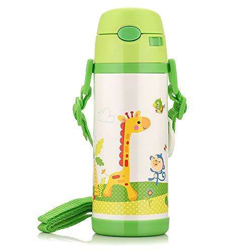 Babybecher Kinderbecher Trinkbecher auslaufsicher Babyflasche Babybecher Babybecher mit Strohhalm-Green