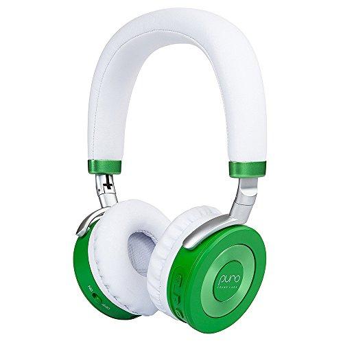 Puro Sound Labs JuniorJams Premium Bluetooth Kinder Köpfhörer Over Ear Lärmschtz Lautstärkebegrenzung Kabellos Faltbar mit Mikrofon Mehrpunktverbindung 22 Stunde Akkulaufzeit (Grün)