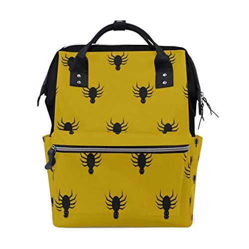 Spinne Schwarz Cool Netting Insekt Große Kapazität Windel Taschen Mummy Rucksack Multi Funktionen Wickeltasche Tasche Tote Handtasche Für Kinder Babypflege Reise Täglichen Frauen (Netting Rucksack)