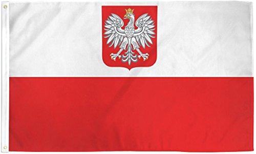 Wrigleyville Sportspoland'Adler staatliche/2 Zip Ensign Flagge: Poly 1.52 x 3 Meters