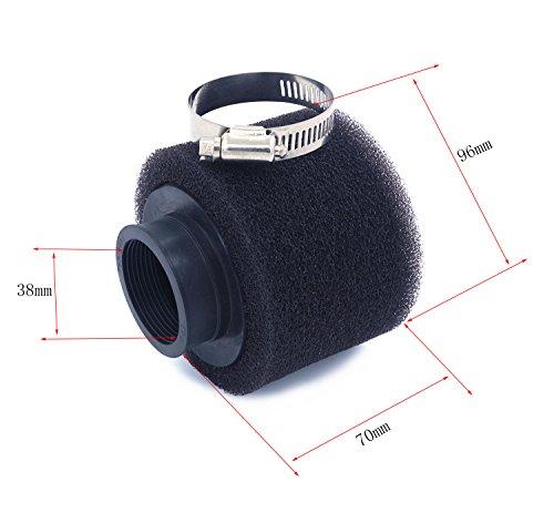 2pcs 35mm-48mm esponja espuma filtro de aire limpiador recto cuello para Coline...