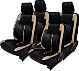 #6: Khushal Leatherite Car Seat Cover For Maruti Wagon R Front And Back Seat Covers Set In Faux Leather Ks058Mwagonr