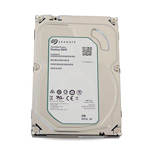 Seagate Desktop SSHD/FireCuda Interne Hybrid-Festplatte; 3,5\', 7200rpm; 64MB Cache, SATA III - recertified, Kapazität:2.000GB (2TB), Baureihe:Desktop SSHD