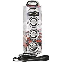 Karaoke DigiVolt HIFI-21 by MovilCom | altavoz bluetooth reproductor mp3 reproductor multimedia USB Micrófono Radio FM Entrada AUX Mando London Bus