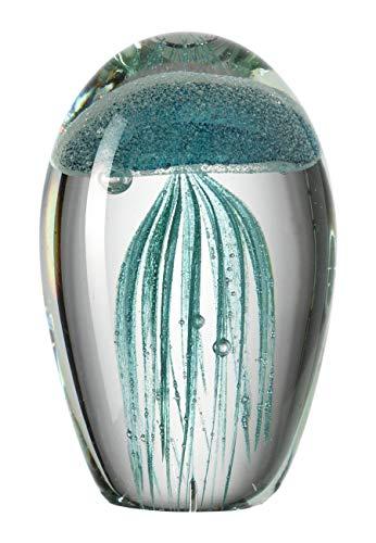 Leonardo Oceano Deko-Objekt Qualle La Baia, türkis, handgefertigtes Farbglas, 026023 -