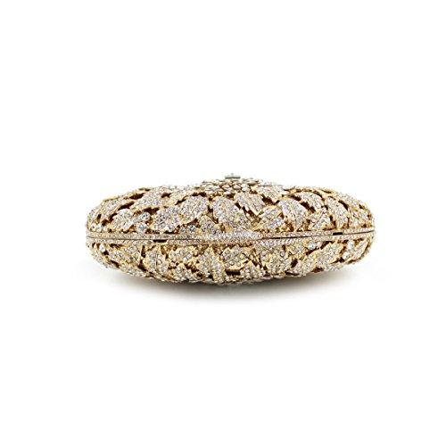 Frauen-Luxus-Mode-Abend-Paket Diamant Brautbeutel Gold