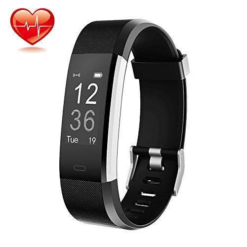 Fitness Armband Zur Herzfrequenz Und Fitnessaufzeichnung, ONSON Fitness Tracker Smart Watch : Schrittzähler Kalorienzähler Schlaf-Monitor für Android and iOS Smartphones -  Schwarz