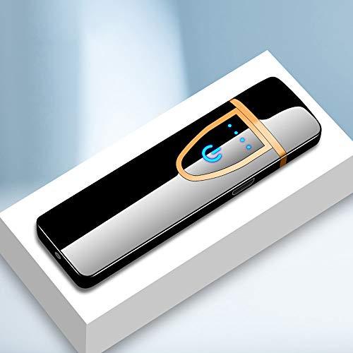 Harddo Encendedor de Carga USB, Encendedor de Arco eléctrico de Plasma a Prueba de Viento Recargable sin Llama, Encendedor de Cigarrillos de inducción táctil
