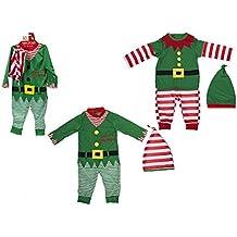 8a3e5c70bab5 Bambino   Baby Elf Outfit di Natale. Rompicapo e Cappello. 2 disegni (12