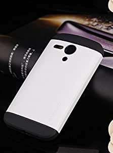 SUPRA Spigen SGP Tough Armor Carrying Case Back Cover for Motorola Moto G wih Air Cushion Technology - White
