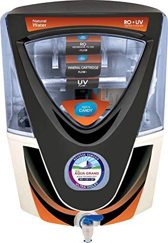 Grand Plus Aquagrand Black Candy 17 L RO + UV + UF + TDS Water Purifier (White and Black)