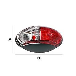 Luce di ingombro LED 12V Luce di posizione, set  da 2 pezzi, rosso/bianco 60×34mm, 12/30Volt, per camper, roulotte e rimorchio