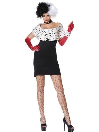 Cruella De Vil Kostüm 101 Dalmatiner, (101 Dalmatiner Kostüm)