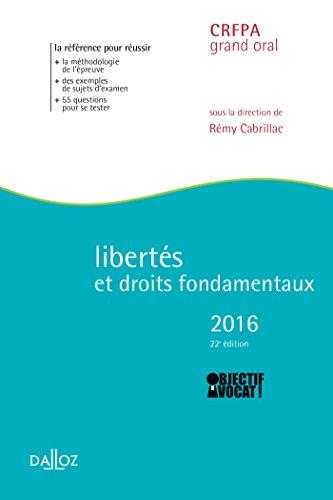 Libertés et droits fondamentaux 2016 - 22e éd.