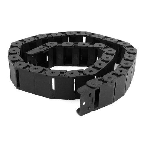 1.04m Noir Type ouvert Corde Câble Transporteur Drag chaîne 18mm x 37mm