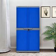 Nilkamal Freedom Mini Medium (FMM) Plastic Storage Cabinet (Deep Blue & G